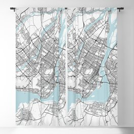 Montreal City Map of Canada - Circle Blackout Curtain