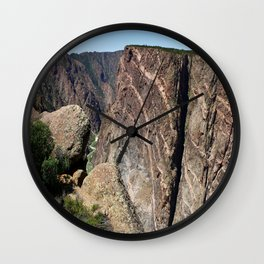 Painted Black Canyon of the Gunnison Walls Wall Clock