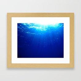 Underwater Light Framed Art Print