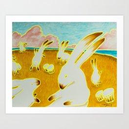 Bongo Bunny Babylon Art Print