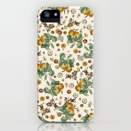 Apples Pears Peaches iPhone Case