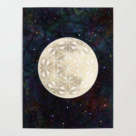 The Flower of Life Moon 2 by klaraacel