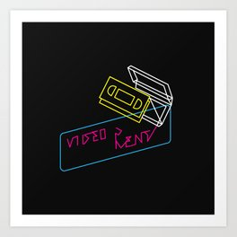 Video Is For Rent Art Print