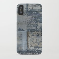 Warehouse District -- Vintage Industrial Farm Chic Abstract Slim Case iPhone X