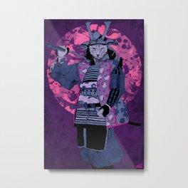 Samurai Kitty Metal Print