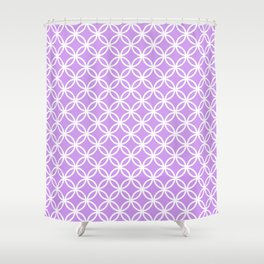 Lilac and white interlocking circles Shower Curtain