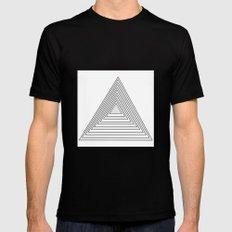 triangles MEDIUM Black Mens Fitted Tee