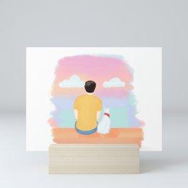 Lovers Sunset Mini Art Print
