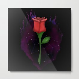 Rose: The Wolf, The Warrior Metal Print