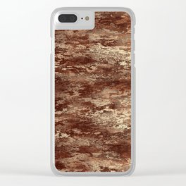 Brown wood bark texture Clear iPhone Case