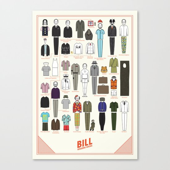 Bill Wearing Socks Canvas Print