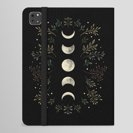 Moonlight Garden - Olive Green iPad Folio Case