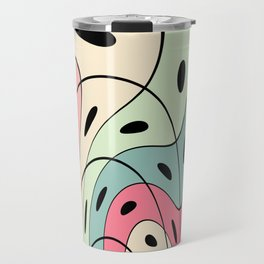 Wavy pastel shapes Travel Mug