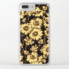 poppy floral in cream Clear iPhone Case