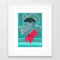 aries Framed Art Prints featuring Aries by Musya