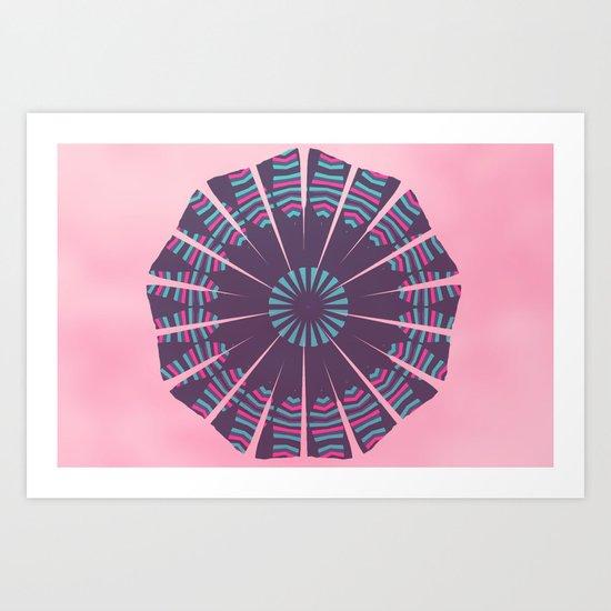 Pinkish mandala Art Print