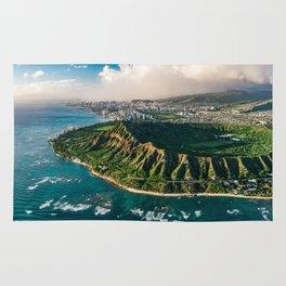 Diamond Head Aerial Panoramic Rug