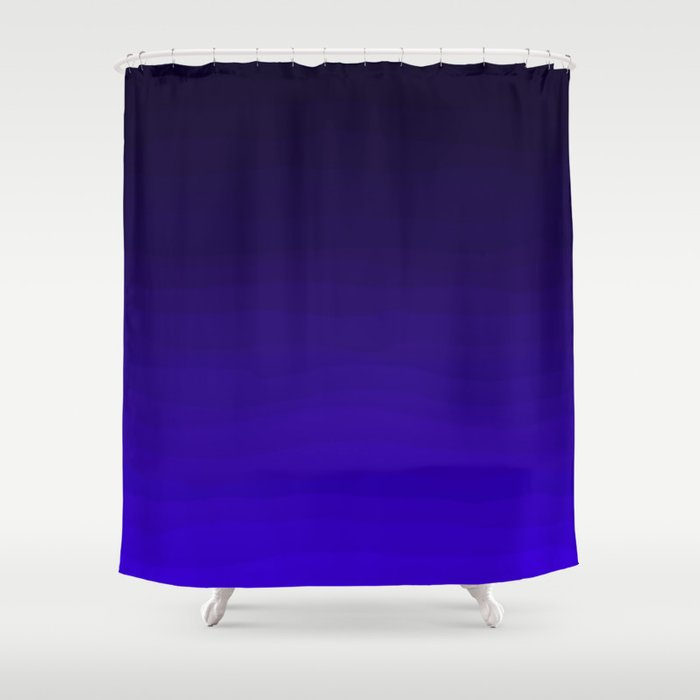 Deep Dark Indigo Ombre Shower Curtain
