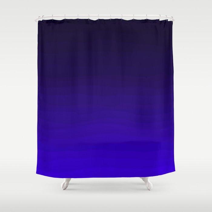 Deep Dark Indigo Ombre Shower Curtain By Katherinefriesen