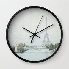 Letters From Liberté - Paris Wall Clock