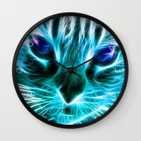 thundercats Wall Clocks featuring Lightining Cat by Augustinet