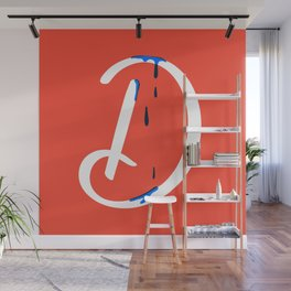 Dripping letter D Wall Mural