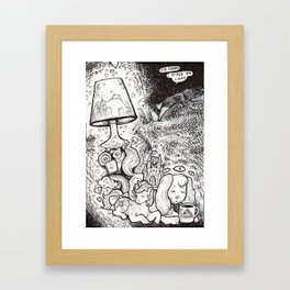 TENDER LAMP Framed Art Print