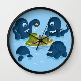 The mystery of Easter Island Wall Clock