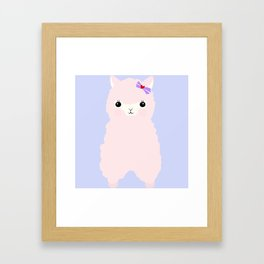 Alpaca in Love V 2 Framed Art Print