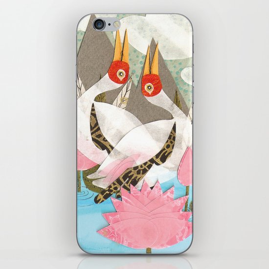 Love Birds: Cranes iPhone & iPod Skin
