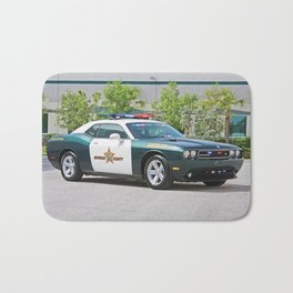Broward Country Florida Challenger Police Highway Patrol Bath Mat