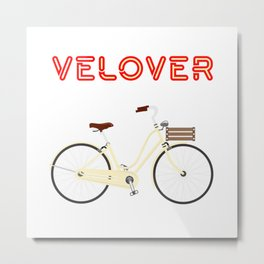 VeLover – City – June 12th – 200th Birthday of the Bicycle Metal Print