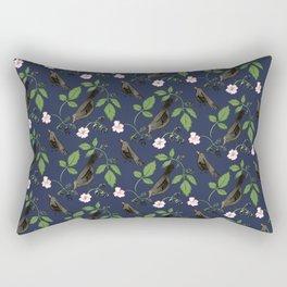 Birds and Blackberries Rectangular Pillow
