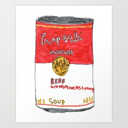 Can of Beef Soup  Art Print