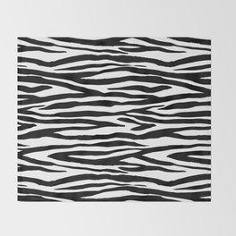 Zebra StripesPattern Black And White Throw Blanket