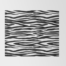 Zebra StripesPattern Black And White Throw Blanket