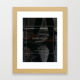 Recovery Tip #55 Framed Art Print