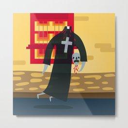 Headless Priest Metal Print