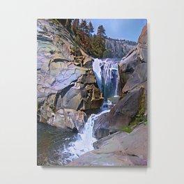 Waterfall, North Fork Kings River, California. Metal Print