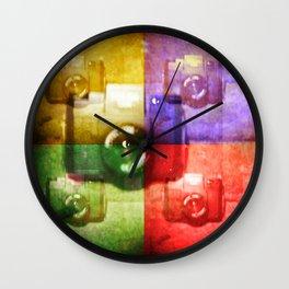 Plastic Holga Shot by a Plastic Holga  Wall Clock