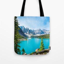 Lake Moraine, Alberta, Canada Tote Bag
