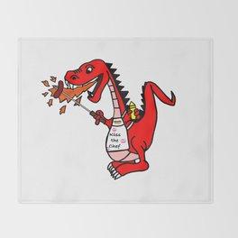 BBQ Dragon Throw Blanket