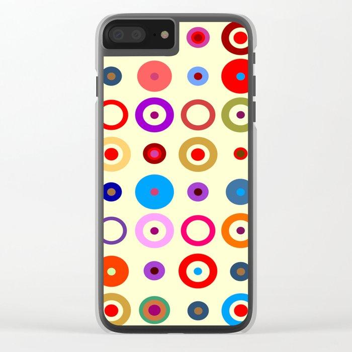 Op Art #7 Clear iPhone Case