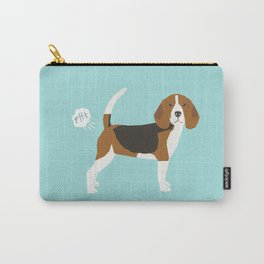 Beagle funny fart dog art cute pet gifts pure breed lovers Carry-All Pouch