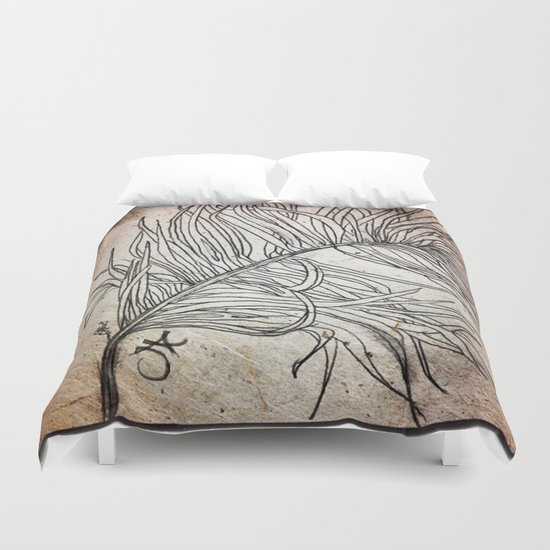 Palm Flower on Earth Day Duvet Cover