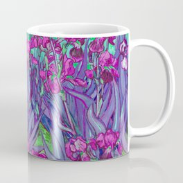 Vincent Van Gogh Irises Painting Violet Fuchsia Palette Coffee Mug
