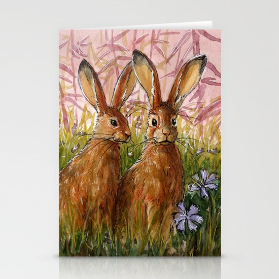 Happy Bunnies A0072 Stationery Cards