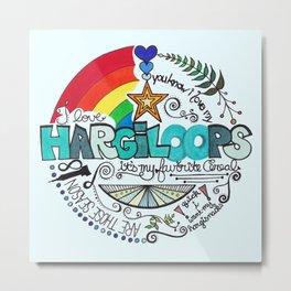 Hargiloops Metal Print