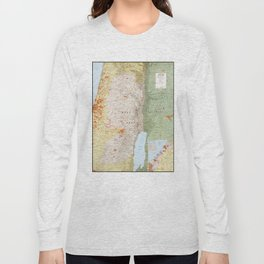 Map of the West Bank and Gaza Strip (1979) Long Sleeve T-shirt