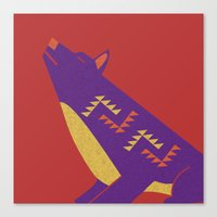 coyote Canvas Prints featuring Coyote by Claire Lordon